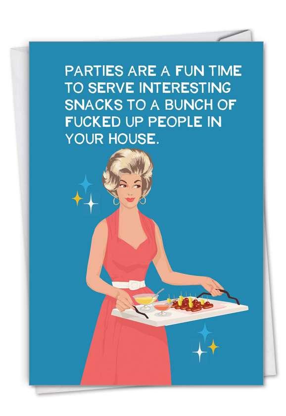 Interesting Snacks: Hilarious Birthday Printed Card