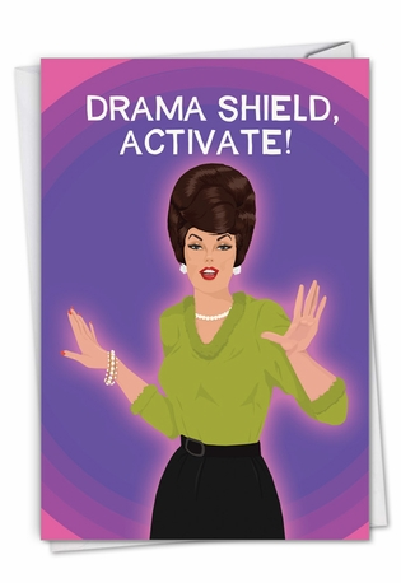 Drama Shield: Funny Birthday Card