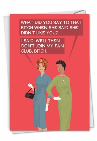 Fan Club: Hysterical Birthday Printed Card