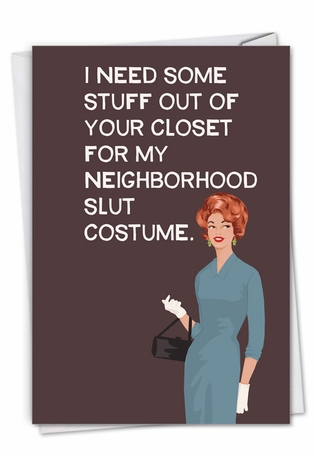 Funny Halloween Paper Card By Bluntcard From NobleWorksCards.com - Your Closet