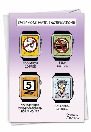 Humorous Mother's Day Card By Maria Scrivan From NobleWorksCards.com - Watch Notifications