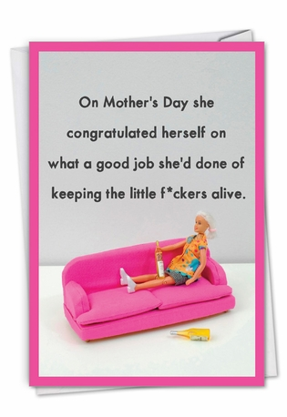 Hilarious Mother's Day Greeting Card By Thea Musselwhite From NobleWorksCards.com - Keeping Kids Alive