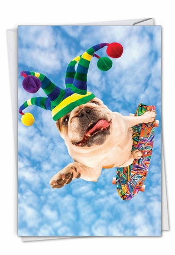 Dog Skateboarder: Funny Birthday Card