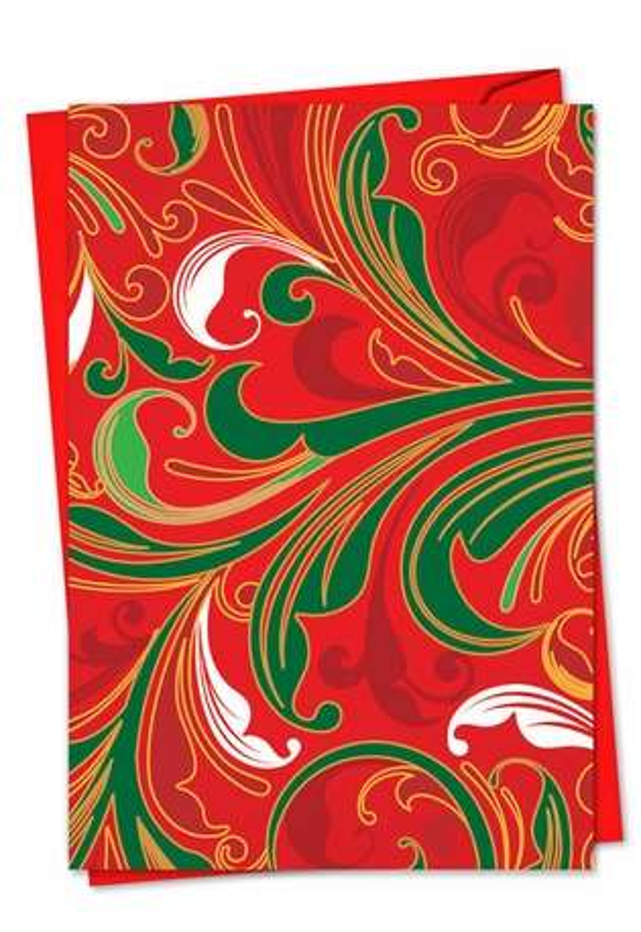 Creative Christmas Greeting Card by Dan Piraro from NobleWorksCards.com - Fleur De Noel