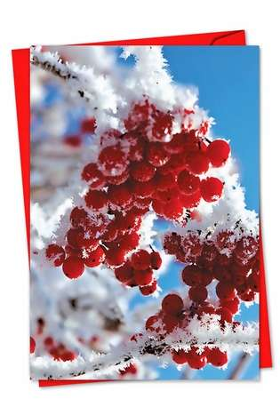 Creative Christmas Paper Card from NobleWorksCards.com - Merry Berries