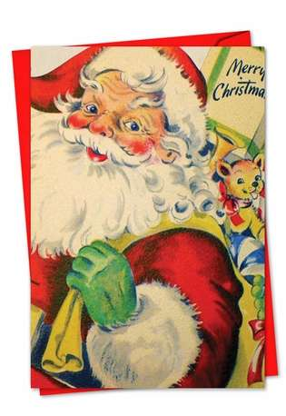 Stylish Christmas Paper Card from NobleWorksCards.com - Santiques