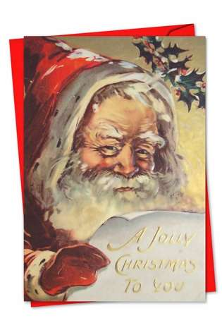Creative Christmas Greeting Card from NobleWorksCards.com - Santiques