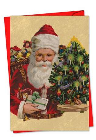 Stylish Christmas Printed Card from NobleWorksCards.com - Santiques