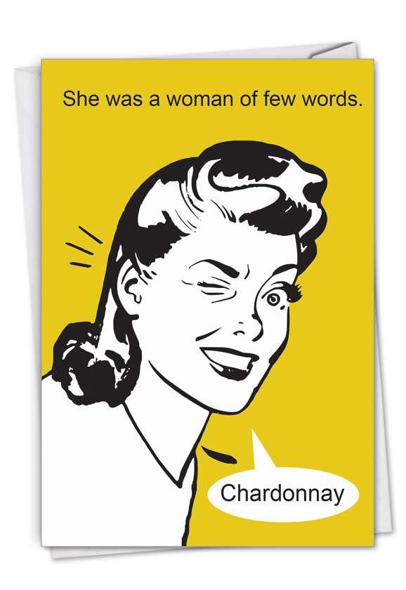 Few Words: Hilarious Birthday Printed Greeting Card
