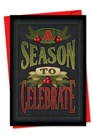 Creative Christmas Printed Card by Angela Anderson from NobleWorksCards.com - Chalk Up Another Holiday