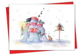 Creative Christmas Paper Card by Happy Garden Design from NobleWorksCards.com - Snow Buddies