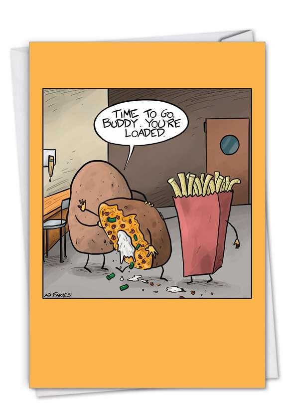 Best Spud: Hilarious Birthday Greeting Card