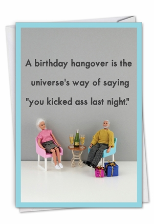 Birthday Hangover: Funny Birthday Paper Card