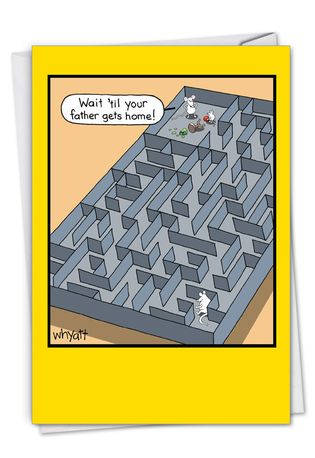 Mice Maze: Hysterical Birthday Greeting Card