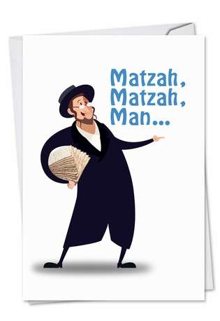 Hysterical Passover Paper Card from NobleWorksCards.com - Matzah Man