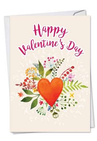 Stylish Valentine's Day Greeting Card from NobleWorksCards.com - Watercolor