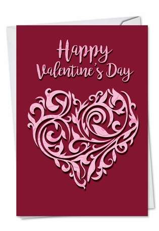 Stylish Valentine's Day Greeting Card from NobleWorksCards.com - Vector Heart