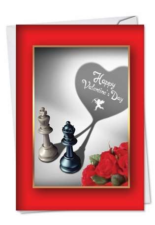 Hilarious Valentine's Day Paper Greeting Card from NobleWorksCards.com - Pieces of Heart