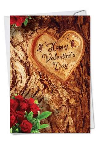 Hysterical Valentine's Day Paper Card from NobleWorksCards.com - Trunk