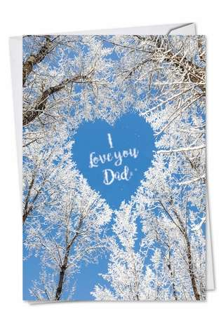 Humorous Father's Day Greeting Card from NobleWorksCards.com - Sky Heart-Dad