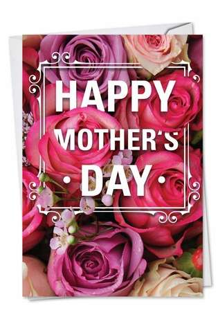 Creative Mother's Day Paper Greeting Card from NobleWorksCards.com - Flowers for Mom