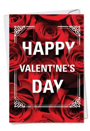 Creative Valentine's Day Paper Card from NobleWorksCards.com - Flowers for Love
