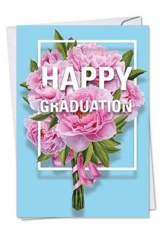 Creative Graduation Printed Card from NobleWorksCards.com - Flowers for Grad