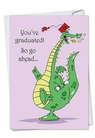 Dragon Graduate: Hilarious Graduation Printed Card