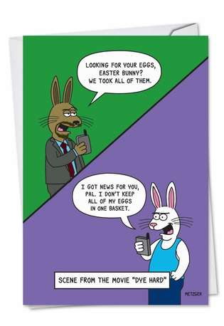 Hysterical Easter Printed Card by Scott Metzger from NobleWorksCards.com - Dye Hard
