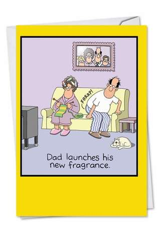 Funny Father's Day Printed Card by Tim Whyatt from NobleWorksCards.com - Dad's Fragrance