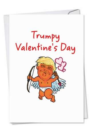 Hysterical Valentine's Day Paper Greeting Card by George Panagopoulos from NobleWorksCards.com - Trumpy