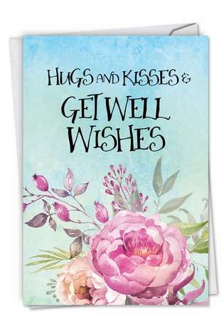 Creative Get Well Paper Card by Batya Sagy from NobleWorksCards.com - Get Well Florals