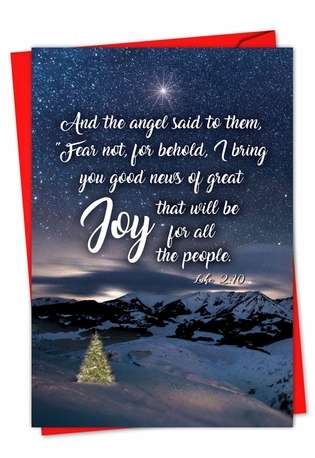 Creative Christmas Greeting Card from NobleWorksCards.com - Christmas Quotes Luke 2:10