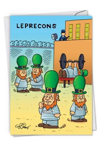 Hysterical St. Patrick's Day Greeting Card by Daniel Collins from NobleWorksCards.com - Leprecons