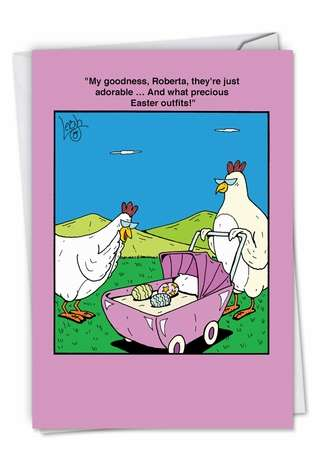 Funny Easter Greeting Card by Leigh Rubin from NobleWorksCards.com - Easter Outfits