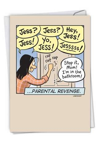 Parental Revenge Funny Mother's Day Paper Card By Nobleworks