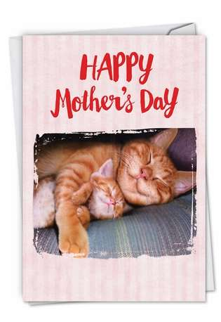 Funny Mother's Day Paper Card from NobleWorksCards.com - Cat Naps