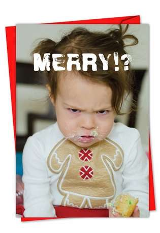 Hilarious Seasons Greetings Printed Card by Awkward Family Photos from NobleWorksCards.com - Christmas Mess