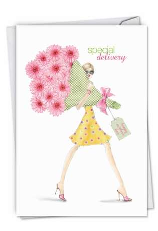 Creative Mother's Day Paper Card by Deborah Koncan from NobleWorksCards.com - Special Delivery