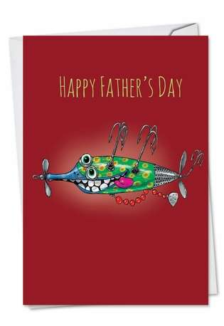 Stylish Father's Day Greeting Card by Brisco Brands from NobleWorksCards.com - Off The Hook