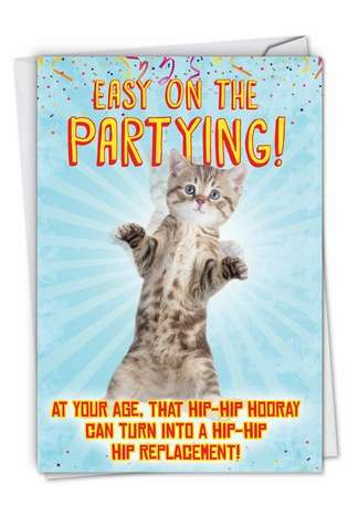 Hilarious Get Well Printed Greeting Card From NobleWorksCards.com - Hip-Hip Hooray
