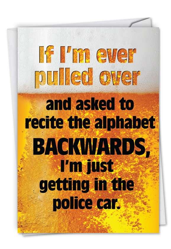 Humorous Birthday Greeting Card from NobleWorksCards.com - Alphabet Backwards