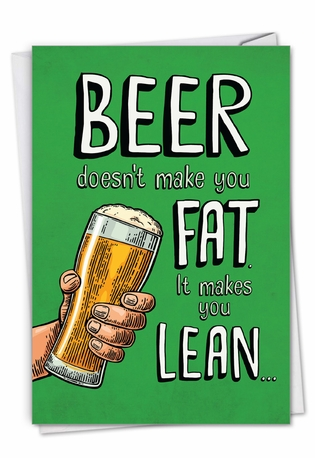Beer Makes You Lean: Humorous St. Patrick's Day Card
