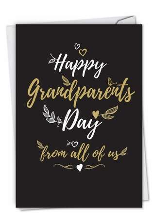 Stylish Grandparents Day Greeting Card from NobleWorksCards.com - Happy Grandparents Day From All