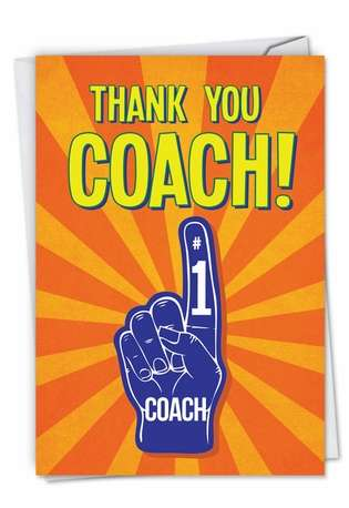 Funny Thank You Paper Card from NobleWorksCards.com - Thank You Coach From All