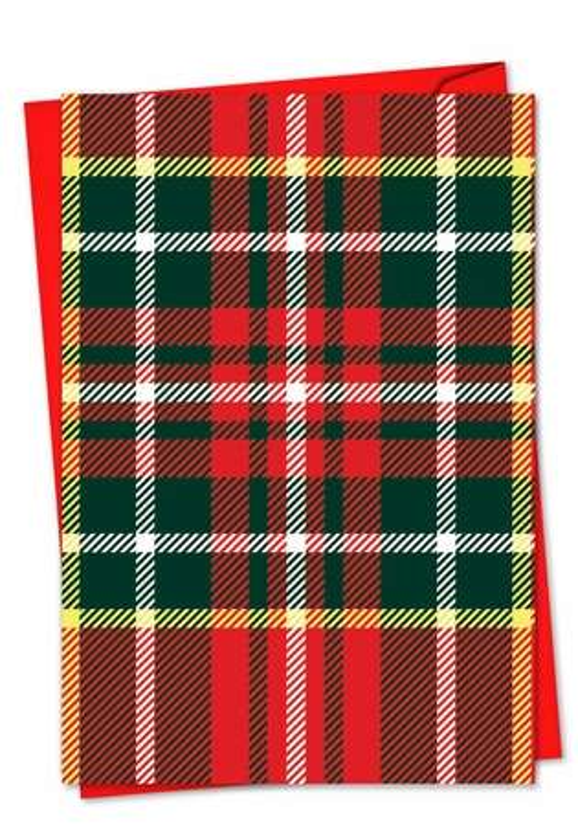 Stylish Christmas Greeting Card from NobleWorksCards.com - Highland Holiday