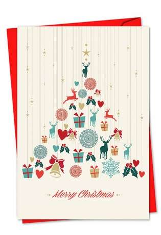 Creative Christmas Printed Card from NobleWorksCards.com - Happy Holidays
