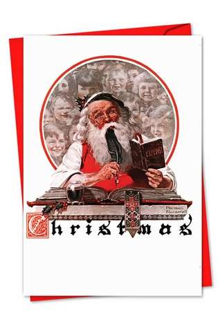 Stylish Christmas Printed Card by Curtis Licensing from NobleWorksCards.com - Rockwell Holidays