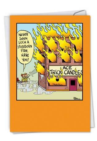 Funny Birthday Greeting Card by Bill Whitehead from NobleWorksCards.com - Trick Candles