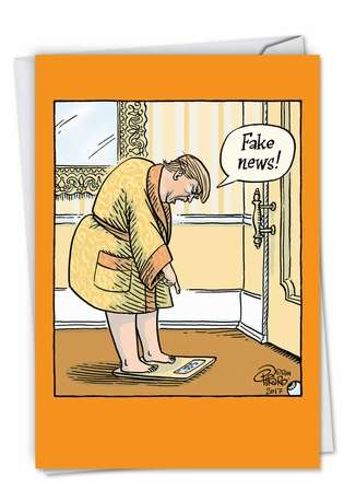 Humorous Birthday Greeting Card by Dan Piraro from NobleWorksCards.com - Fake Weight